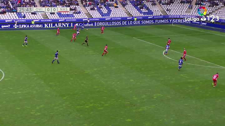 LaLiga 1|2|3: Resumen y Goles del Oviedo (2) - (0) Gimnàstic del 17/03/2019 | Vídeo