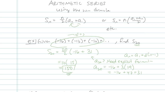 Arithmetic Series - Problem 13