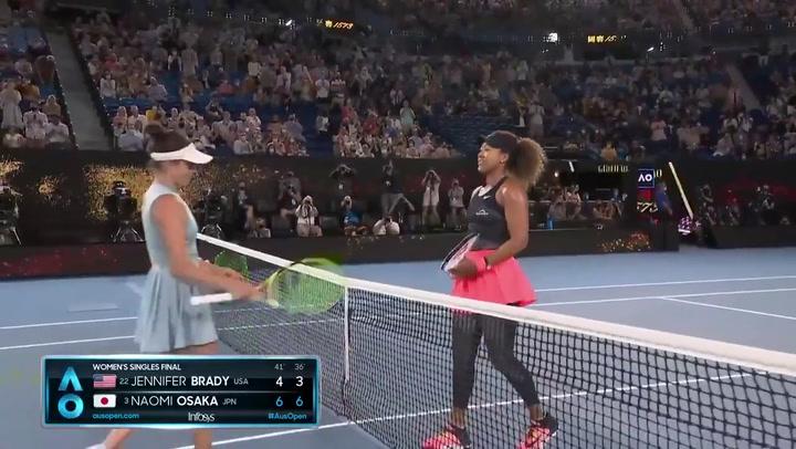 Naomi Osaka celebra la victoria de la final del Open de Australia