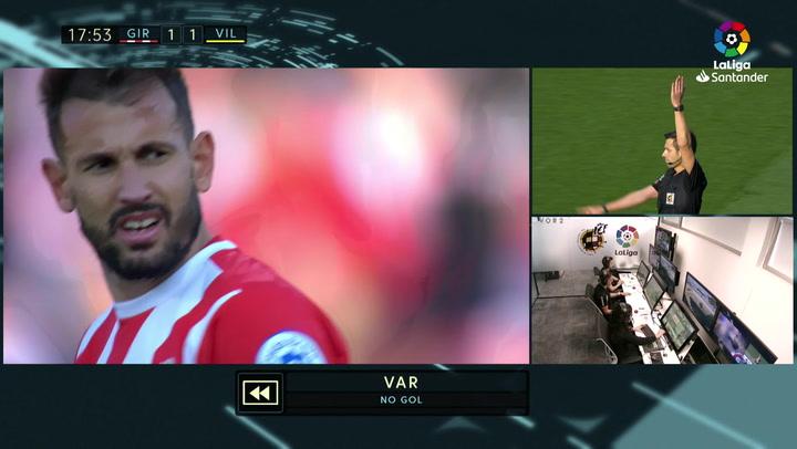 LaLiga: Girona-Villarreal. Gol anulado por el VAR a Stuani
