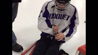 Wild sled hockey team visits Cloquet