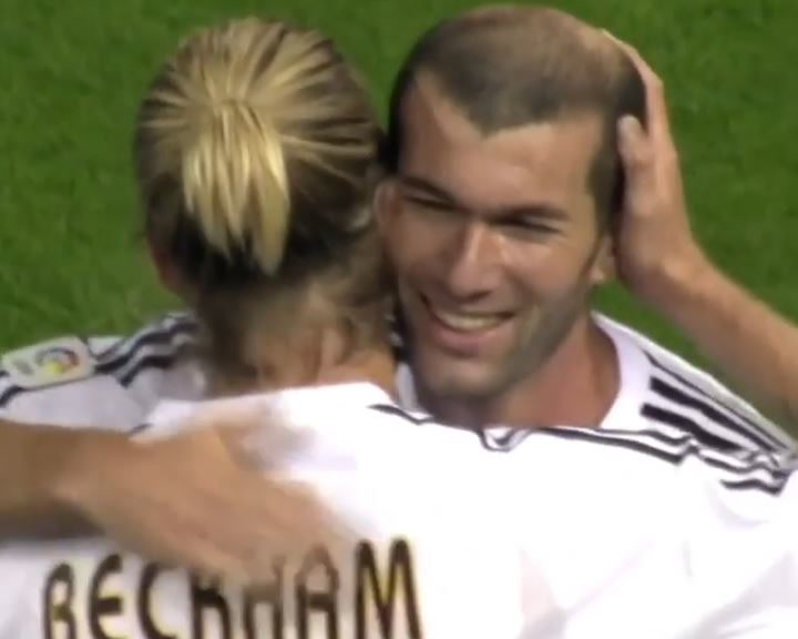 La cariñosa felicitación de cumpleaños de Beckham a Zidane