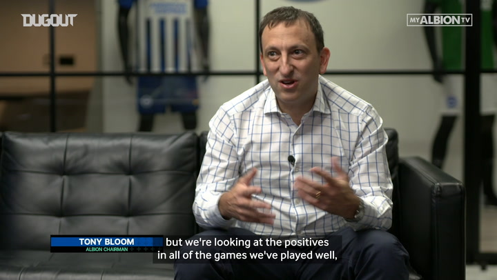 Brighton & Hove Albion Chairman Tony Bloom positive ahead of run-in
