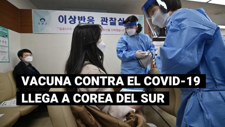 Inicia Corea del Sur su campaña de vacunación contra la COVID-19