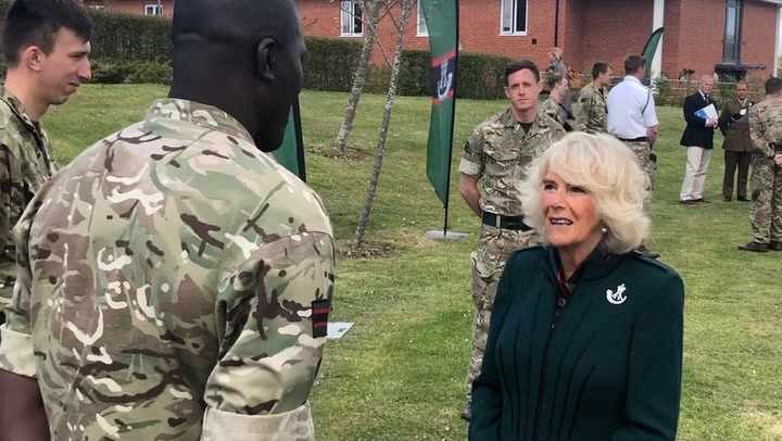Camilla makes first visit to 5th Battalion The Rifles