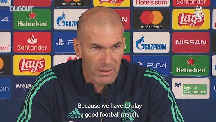Zidane: 'We want to show our quality and get a good result'