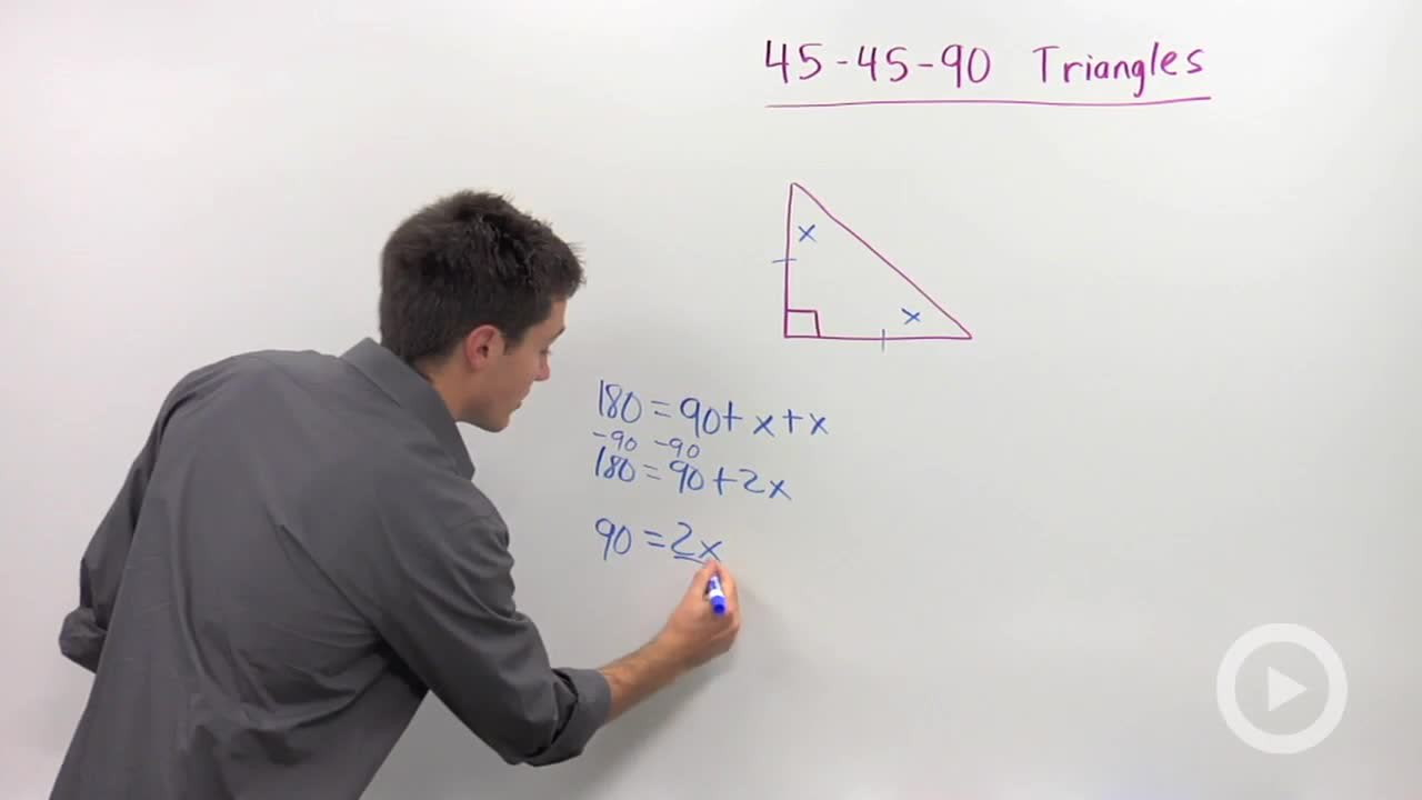 45 45 90 Triangles Concept Geometry Video By Brightstorm