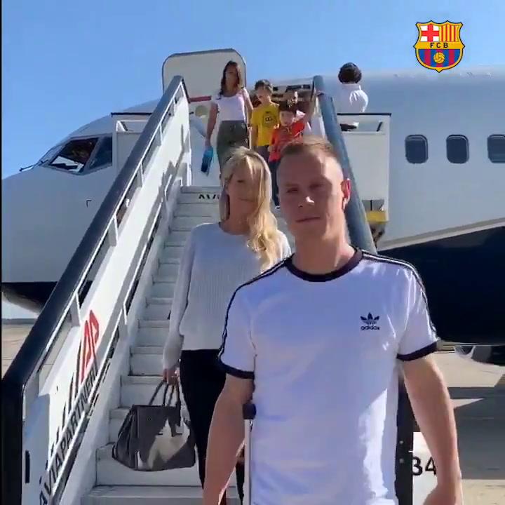 Los jugadores del Barça ya estan en Milán para la gala del FIFA The Best