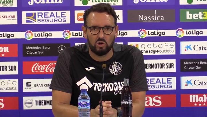 """Bordalás: """"El Athletic es un gran rival"""""""