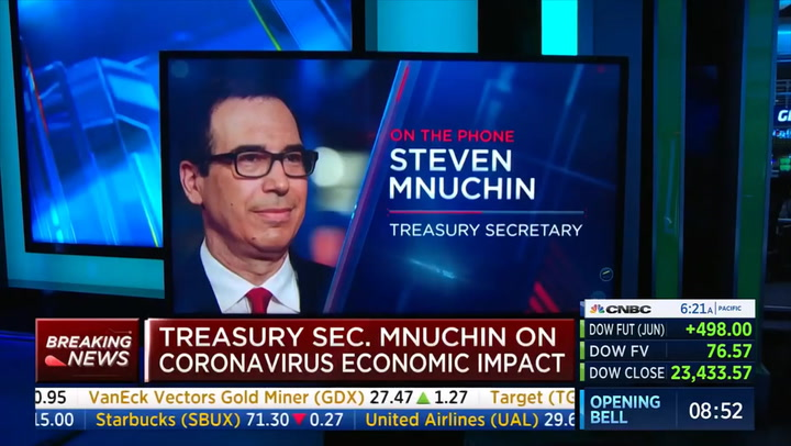 Mnuchin: Economy Could Be Open in May