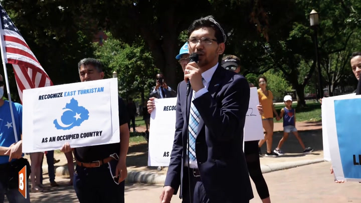 Pro-Uyghur Group Chants