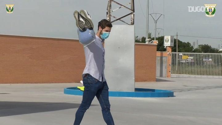 CD Leganés players go through medical tests