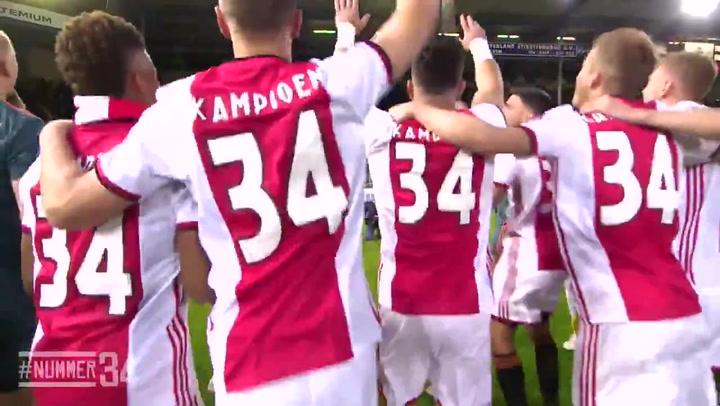 El Ajax celebra la victoria en la Liga Holandesa