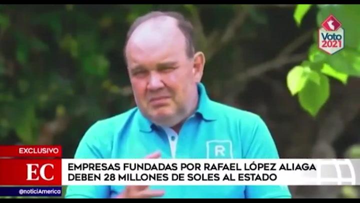 Empresas fundadas por López Aliaga deben S/28 millones al Estado