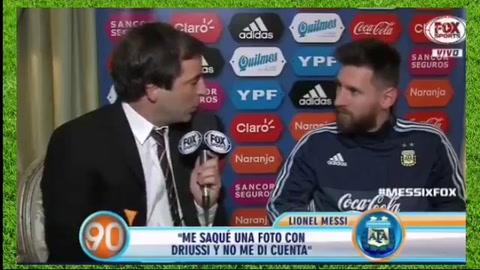 Messi le pidió perdón a Driussi por no reconocerlo