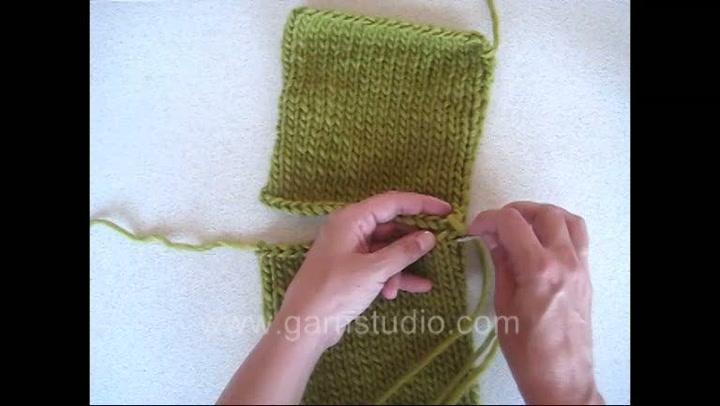 Hvordan sy skuldersøm på et strikket plagg