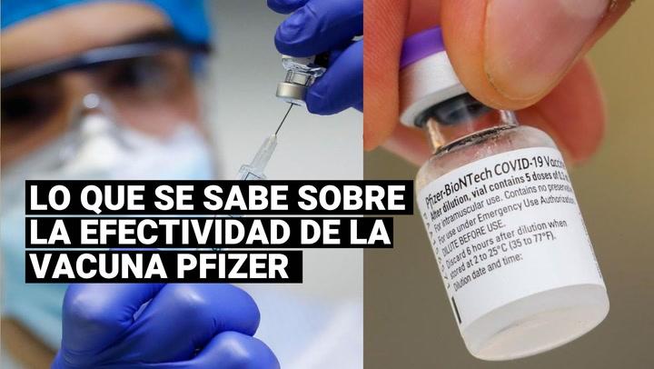 Lo que se sabe sobre la efectividad de la vacuna de Pfizer contra el coronavirus