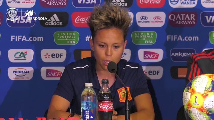 Amanda Sampedro responde en la previa ante Alemania