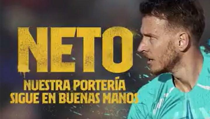 El Barça da la bienvenida a Neto