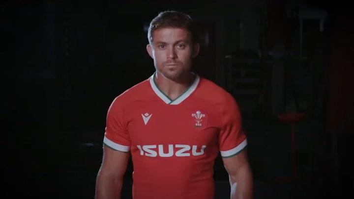 Macron WRU Wales Training Shirt rot Welsh Rugby Union Jersey Trikot