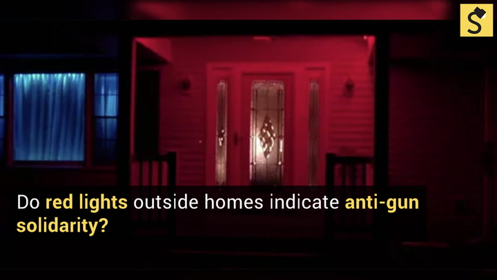 A Story About Activists Lighting Their Homes With Red Bulbs To Show  Opposition To Guns Is A Hoax. Nice Design