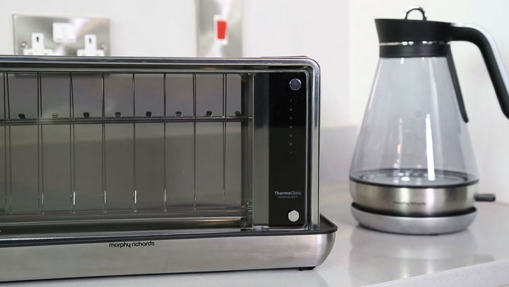 Preview image of Morphy Richards Redefine Glass Kettle Toaster video