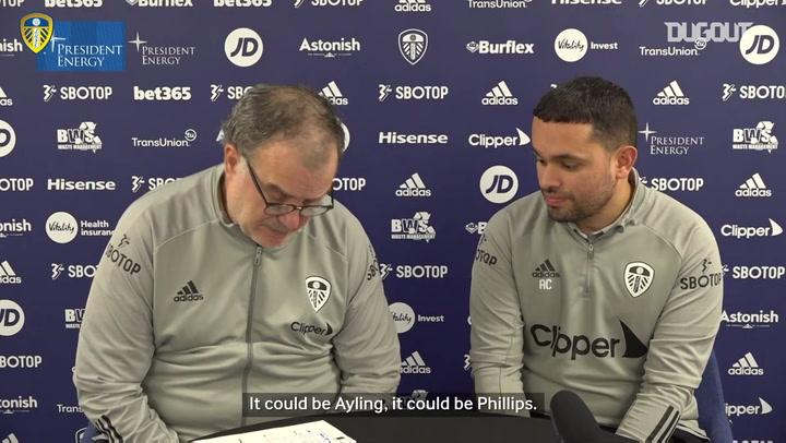 Marcelo Bielsa reveals Leeds line-up and praises West Ham