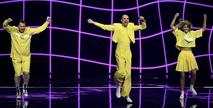Lithuania entertain viewers with a quirky Eurovision performance