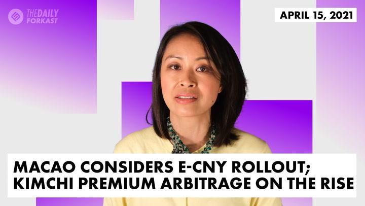 Macau Considers e-CNY Rollout; Kimchi Premium Arbitrage on the Rise