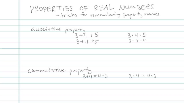 Properties of Real Numbers - Problem 1