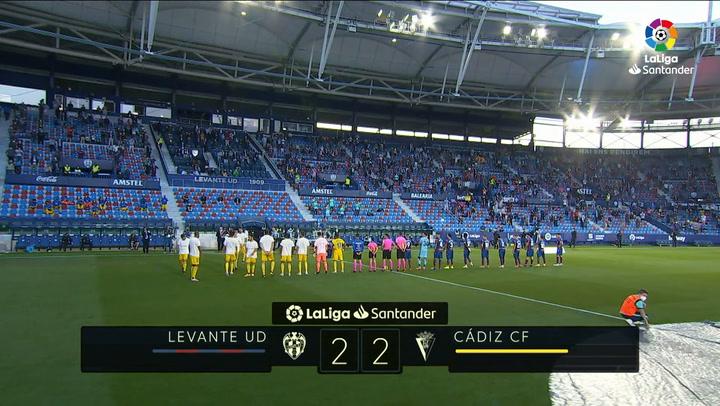 LaLiga Santander (Jornada 38): Levante 2-2 Cádiz