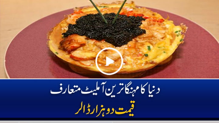 Guinness record of world's most expensive omelette