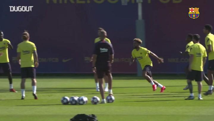 برشلونة يواصل الاستعداد لمواجهة نابولي في دوري أبطال أوروبا