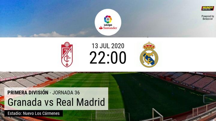 El Real Madrid juega un partido clave en Granada