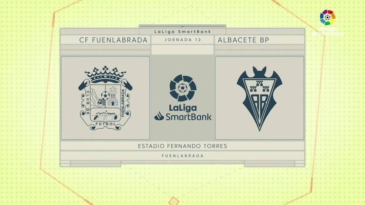 LaLiga SmartBank (J12): Resumen y gol del Fuenlabrada 0-1 Albacete