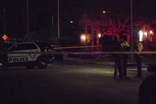 Homicide and traffic detectives investigating fatal crash