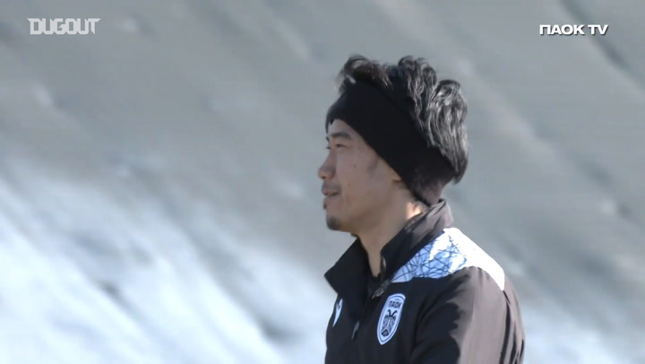 Shinji Kagawa's first training session with PAOK