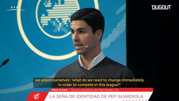 Arteta explains how Guardiola adapted to English football