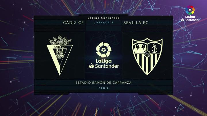 LaLiga Santander (J.3): Cádiz 1-3 Sevilla