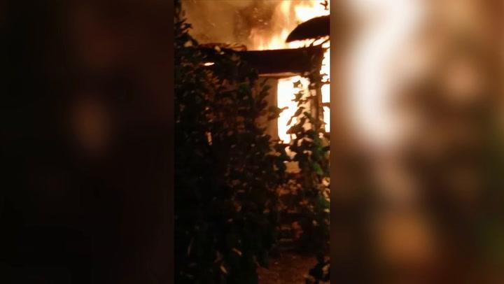 Tent of asylum seeker burns on Greek migrant camp due for closure