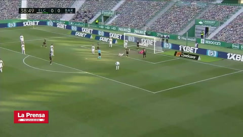 Elche 0 - 2 Barcelona (Liga Española)