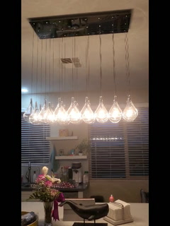 Swinging lights in Las Vegas from earthquake