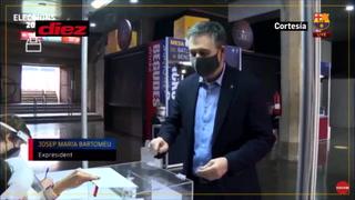 Fue detenido hace unos días semana y así llegó Bartomeu a votar en las elecciones del Barcelona