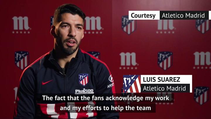 Suarez thanks team-mates for stunning Atletico Madrid form