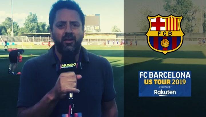 Entrenamiento del Barça en las instalaciones de la Universidad de Michigan
