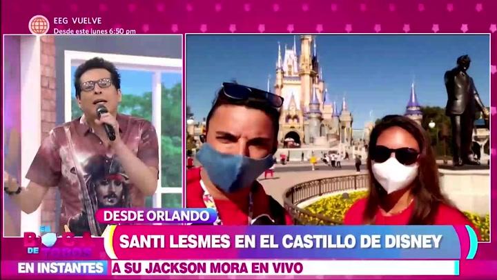 Santi Lesmes y su familia visitan el castillo de Disney en Orlando