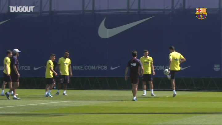 Barça's recovery session after the game against Atletico Madrid