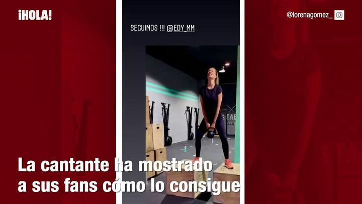 Lorena Gómez muestra cómo se pone en forma tras ser mamá
