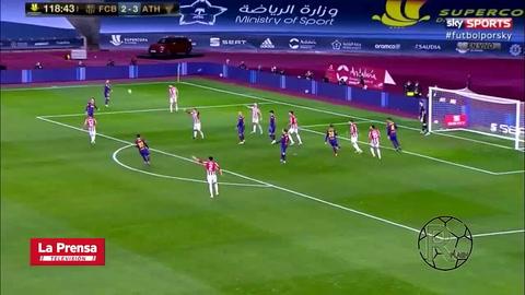 Messi perdió el control y se fue expulsado en la Supercopa de España tras brutal agresión