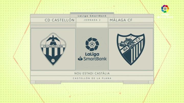 LaLiga Smartbank (Jornada 2): Castellón 0-1 Málaga